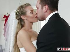 Busty bride nicole aniston and sexy milf julia ann fucked by groom