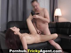 Tricky agent - casting with a cumshot inside