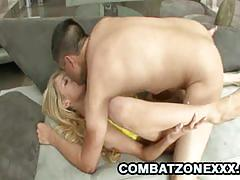 Scorching emily kae rides this hard dick