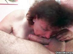 Sex starved granny fucks all the guys