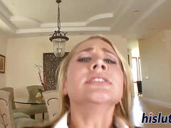 Alanah rae sits on a long dick
