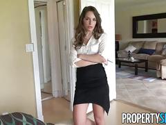 Propertysex - super hot realtor flirts with client and fucks his big cock