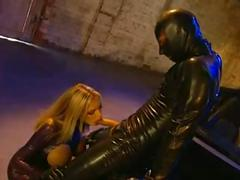Latex sex by the car