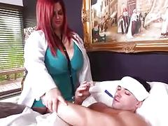 Sexy doctor bbw fucks by patient