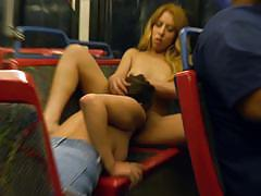 ashley adams, camille lixx, two girls, lesbian, bus, kissing, watching, pussy licking, public