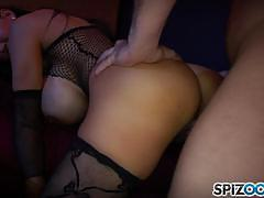 amy anderssen, brunette, riding, big tits, doggystyle, cumshot, lingerie, reverse cowgirl, doggy, cowgirl, stripper, condom, hooker
