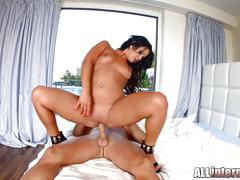 Nia black gets her pussy fucked until creampie