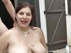 Sexy chubby wife first gangbang