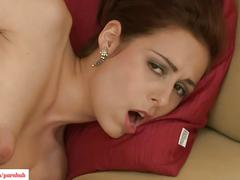 Antonia sainz masturbates on couch