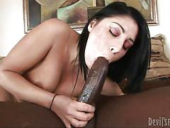 Lusty squirting brunette gets dirty