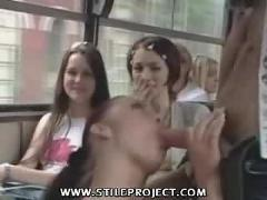 Awesome sex on a public bus