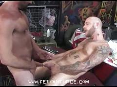 Muscled kinky daddy bears hardcore cock playing adventure