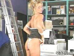 Blonde bitch gets drilled by postman