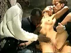 White chicks fucked by black guys gangbang