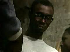 White chicks fucked by black guys gangbang