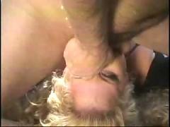 Hot milf gagging cock