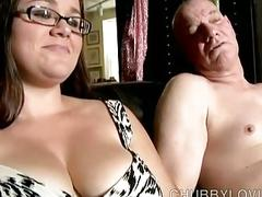 Cute chubby babe loves to suck cock