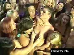 Lesbian bukkake party - squirt orgy!
