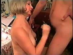 Old milf fucked by her young neighbour boy