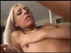 Nasty blonde double penetration