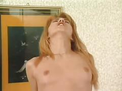 Super hot slut banged by two big cocks