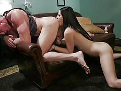 Pierce paris gets his ass rimmed by shemale girlfriend