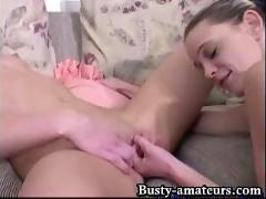 Busty sunny and holly toying action