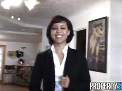 Propertysex - cute petite realtor makes dirty pov sex video with client