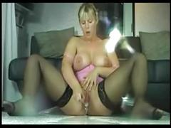 Awesome squirting and faded with huge fucking boobs