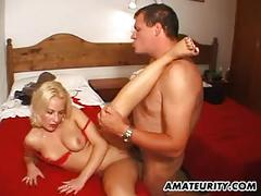 Amateur milf with big tits gets fucked with cumshot