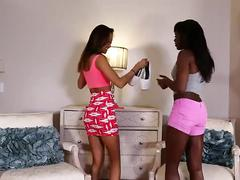 Bskow - alina li and ana fox having an interracial threesome