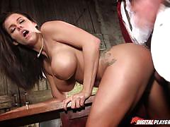 Saucy peta jensen getting nailed on the table