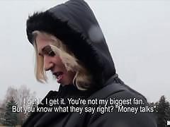 Blonde girl linda ray fucks a stranger for money