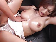 Floppy breasted japanese slut gets rammed hard from behind