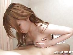 Busty asian bitch gets naked