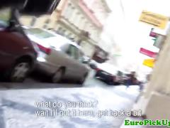 Pulled bigass eurobabe gets rammed hard