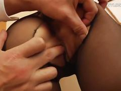 Horny pantyhose fuck stockings sex nylon