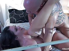 Sensual alison tyler gets her pussy hammered