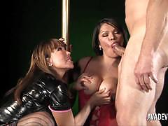 Ava devine in shemale threesome