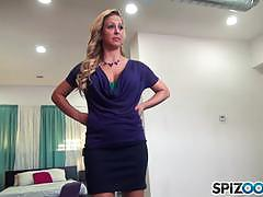 cherie deville, blowjob, riding, big tits, doggystyle, cumshot, facial, blonde, milf, threesome, mom, cowgirl, camera, pov, mmf, sucking, stepmom