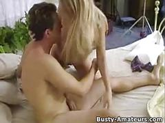 Busty amateur mary on hot foreplay in bed
