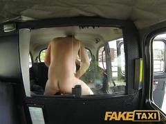 Faketaxi punk rock chick sex in black cab