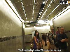 anal, public, amateur, reality, public toilet, filming, czech babe, brunette babe, porn weekends, wtf pass, nessa devil