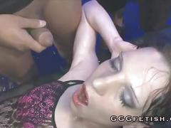 Sexy girls gets fucking with pissing