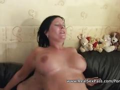 Compilation of shaved amateur matures being pussy and ass fucked hard