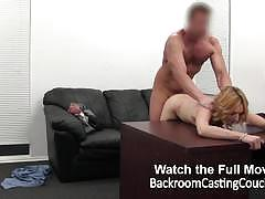 Randy babe ass fucked in casting