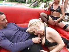 big tits, blonde, threesome, girl-on-girl, ffm, rough-sex, slave, big-tits, busty, blowjob, reverse-cowgirl, riding, doggy-style, pussy-licking, ass, ass-fucking, creampie