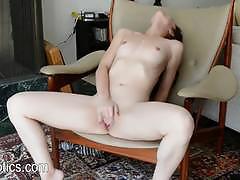 Racy brunette nikki next masturbating