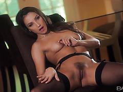 Naughty celeste star can please herself alone