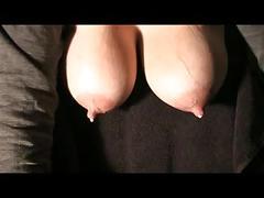 Milf's big lactating tits